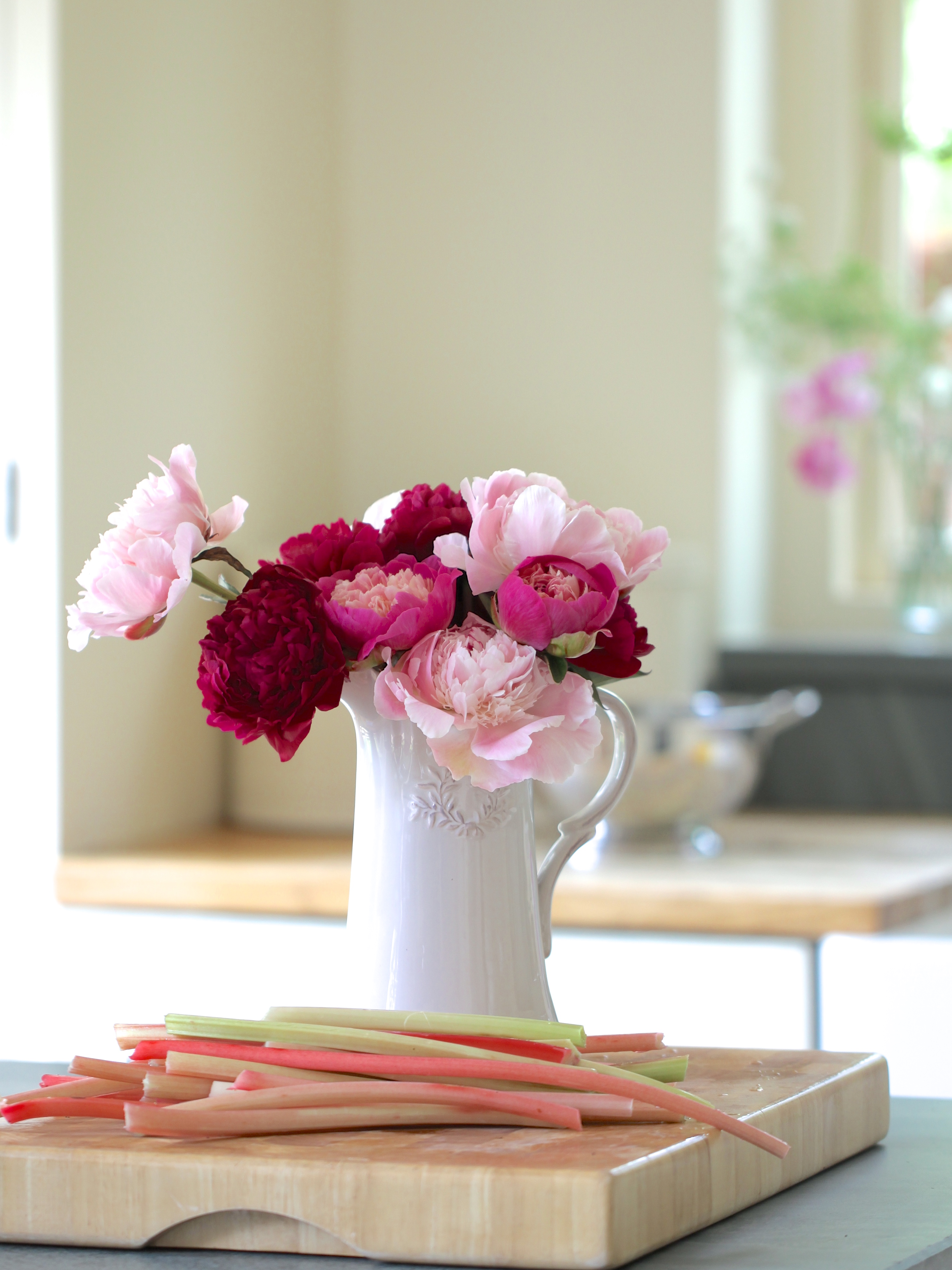 In a vase on monday my perfect peoniesindulging floral passions jug of peonies reviewsmspy